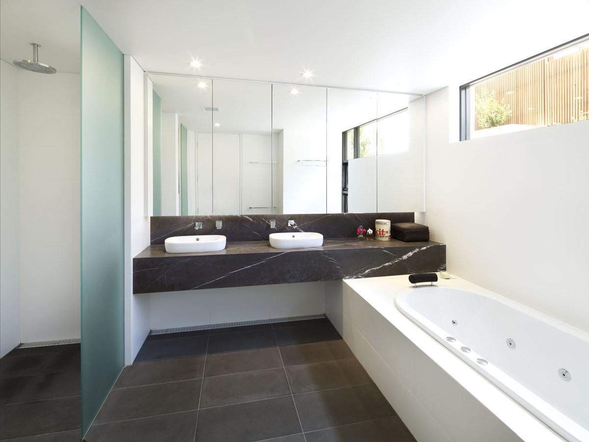 Grey Walls Tile Floor