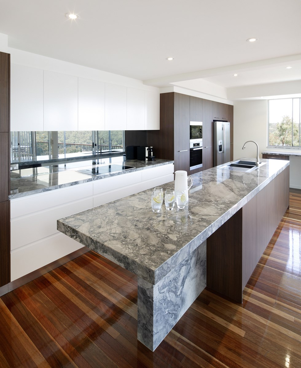 Black Benchtop Kitchen Designs: Natural Stone Gallery > Gallery > Quantum Quartz, Natural