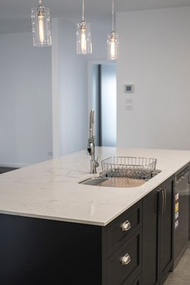 BIANCO VENATO QUARTZ - GJ Morgan Kitchens