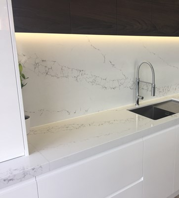 STATUARIO QUARTZ - Kitchen Domain