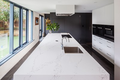 STATUARIO QUARTZ - Kitchen Capital WA