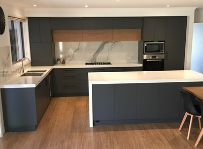 ALPINE WHITE (bench) & STATUARIO SIX+ (splash) - Yarrawonga Kitchens, Absolutely Marble-Us